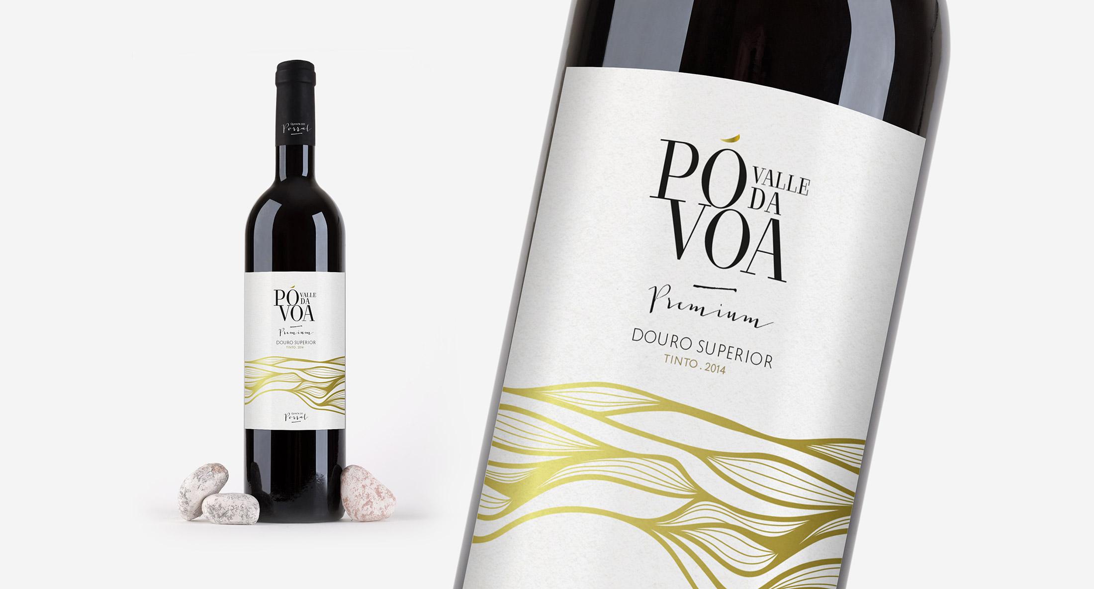 Rótulo garrafa de Vinho Valle da Póvoa